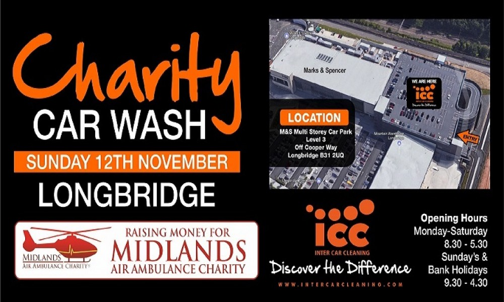 ICC Longbridge Charity Car Wash, Raising Funds for Midlands